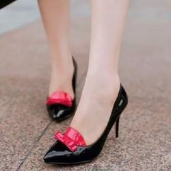 Giày cao  gót nơ xinh xắn