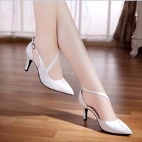 HÀNG CAO CẤP CHẤT NGOẠI NHẬP - Giày cao gót phối xoắn