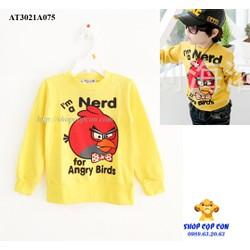 Áo thun tay dài hình Angry Bird màu vàng size 3-7