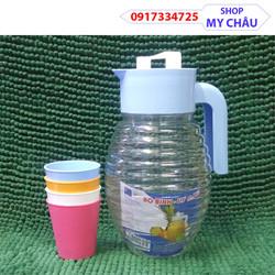BÌnh đựng nước Đông Tâm 2,5L nhựa PP cao cấp