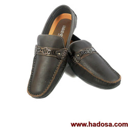 Giày mọi chữ H nam da bò cao cấp handmade