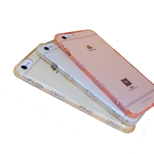 Ốp dẻo viền đính đá sang trọng cho Iphone 6, 6s hiệu Meephone
