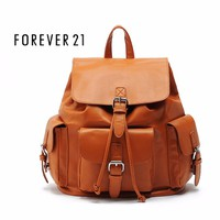 Balo Forever 21 Faux Leather Buckled Backpack