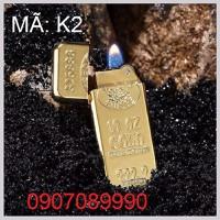 hộp quẹt ZIPPO cao cấp dát vàng 9999 -- K2