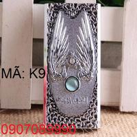 Hộp quẹt ZIPPO phủ bạch kim sang trong -- K9