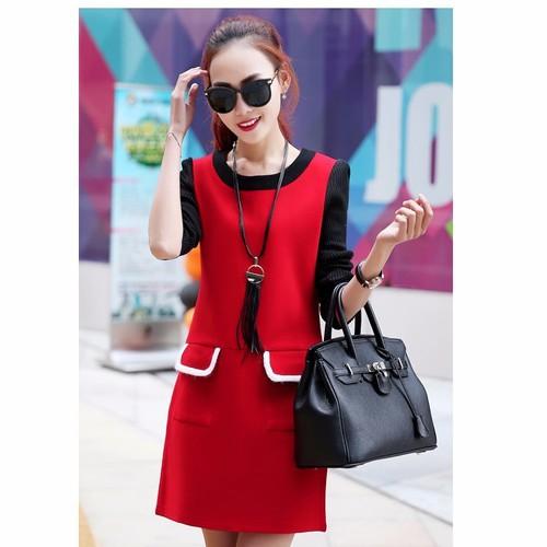 Đầm nữ dài tay thiết kế 2 túi nổi bật - D041 - 3876886 , 2585517 , 15_2585517 , 387000 , Dam-nu-dai-tay-thiet-ke-2-tui-noi-bat-D041-15_2585517 , sendo.vn , Đầm nữ dài tay thiết kế 2 túi nổi bật - D041