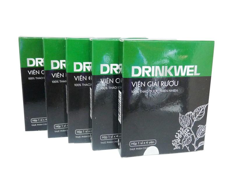 Bộ 16 hộp Viên giải rượu Vioba DRINKWEL vỉ 4 viên 1