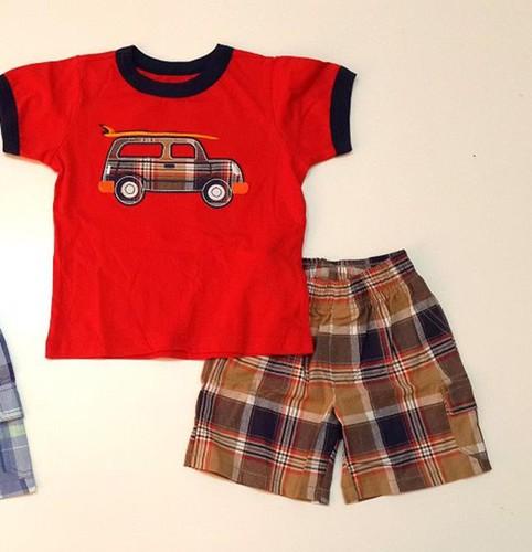 Bộ áo thun quần kaki Carter cho bé trai 1-7T 1