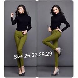 Quần Skinny jean color block lưng cao 1 nút - Q191