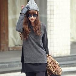 Áo thun nữ thời trang, kiểu dáng đơn giản, phong cách Âu Mỹ