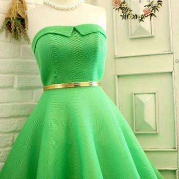 Đầm xòe xốp xanh