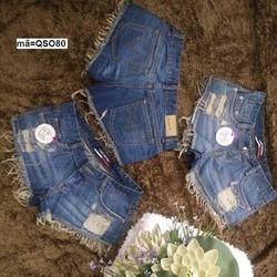 Quần short jean nữ wash rách lai sành điệu hhQSO80