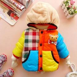 áo khoác phao gấu  1den 3tuoi