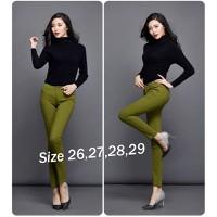 Quần Skinny jean color block lưng cao 1 nút Qd191