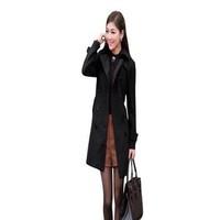 Áo khoác nữ măng tô kiểu cổ bẻ sơ mi thời trang và trẻ trung AKMT61