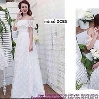 Shop đầm cưới -Đầm dạ hội cô dâu trể vai sang trọng quyến rũ sDCE5