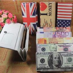 Bóp-ví dài unisex Tiền 100 usd