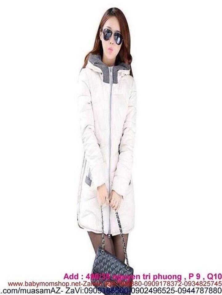 Áo khoác nữ dạng phao dài tay phối nón cho mùa đông ấm áp AKMT58 1