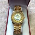 Đồng hồ inox nữ đính hột số la mã sang trọng DHI116