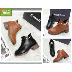 Giày Boot cột dây đinh viền