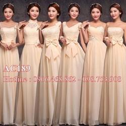 Váy cưới đính hoa AC185