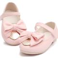 Giày búp bê nơ hồng mũi vàng