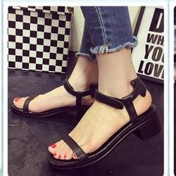 Giày Sandal đế thô quai mãnh | giày sandal nữ đế vuông