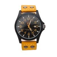 Đồng hồ unisex dây da mua 1 tặng 1 GE067