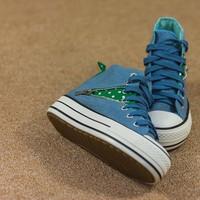 Giày bata cổ cao khóa kéo SA047