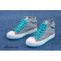 Giày bata cổ cao chấm bi SA099