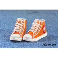 Giày bata cổ cao hoa mai SA086