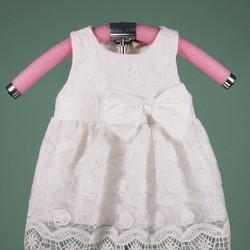 Đầm ren nổi hoa hồng xinh xắn cho bé cưng, 8-24kg