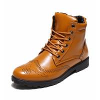 Giày da nam cổ cao cá tính Mã: GH0238 - CAFE