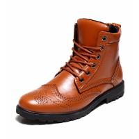 Giày da nam cổ cao cá tính Mã: GH0238 - NÂU