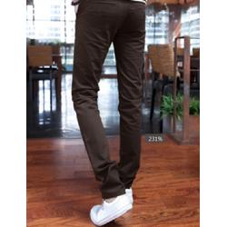 Quấn kaki nam màu nâu trơn form body ôm dành cho nam giá rẻ nhất