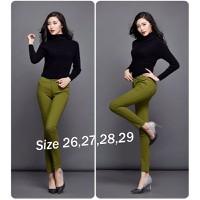 Quần Skinny Jean Color Block Lưng Cao 1 Nút EKE-QD191