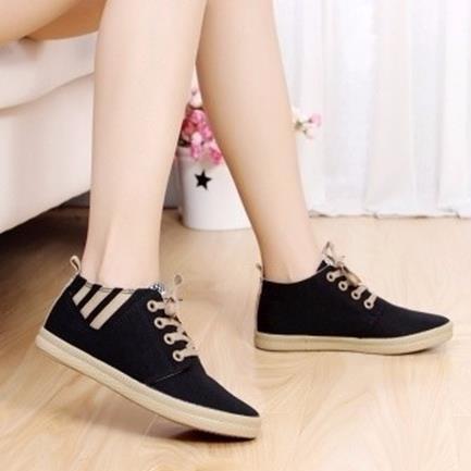 Giày vải gót sọc phong cách G58 1