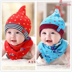 Bộ khăn mũ nỉ trẻ em- ngôi sao