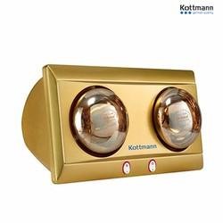 Đèn sưởi nhà tắm 2 bóng vàng Kottmann K2B-Y