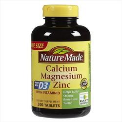 Viên uống bổ sung canxi Nature Made Calcium Magnesium Zinc