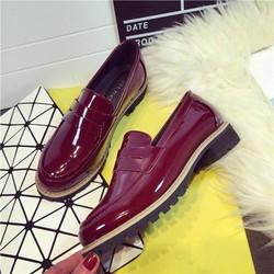 Giày Retro gót thấp phong cách Hàn Quốc màu nổi bật - SG0122