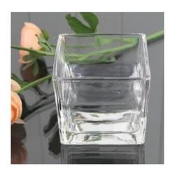 Lọ hoa thủy tinh vuông 12x12 cm