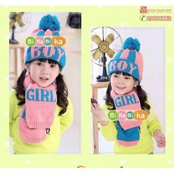 Bộ khăn mũ len trẻ em – boy- girl