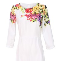 Đầm maxi họa tiết hoa