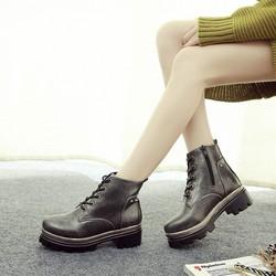 Giày Boot nữ combat kiểu dáng Âu Mỹ phù hơp mùa đông - SG0120