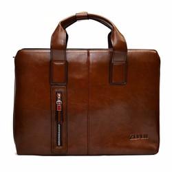 Túi xách da nam đựng laptop Zefer 999 Nâu