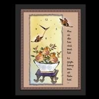 Tranh đồng hồ Tictac - Hoa cài dậu trúc