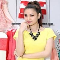 Sét áo croptop và chân váy bút chì màu vàng sang trọng SEV162