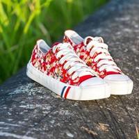 Giày bata in hoa đế cao SB048