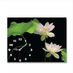 Tranh đồng hồ Tictac - Hoa sen